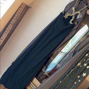 Roberto Cavalli Black Serpent Evening Gown